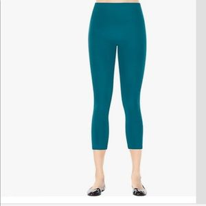 Spanx Cropped Legging in Blue Green Size XL